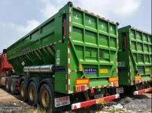 Dump semi-trailers can be divided into two categories