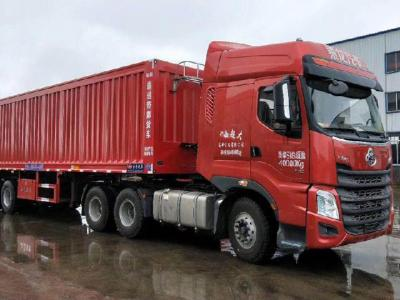 Medium-sized intelligent conveyor belt unloading truck