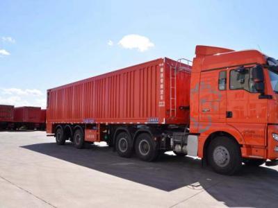 Heavy intelligent conveyor belt unloading truck
