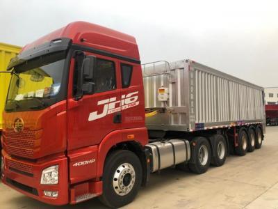 Lightweight intelligent conveyor belt unloading truck