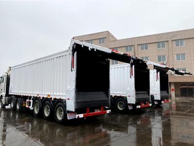 Domestic waste transfer semi-trailer